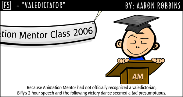 F5 Comic Animation Mentor Aaron Robbins